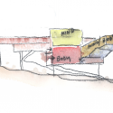 In Progress: Campbell Sports Center / Steven Holl Architects watercolor