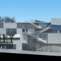 In Progress: Campbell Sports Center / Steven Holl Architects elevation