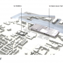 Saint-Nazaire Theatre / K-architectures plan relief