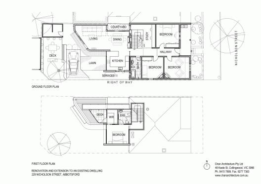 B D B Fc B Abbotsford Residence Chan Architecture Floor Plans X