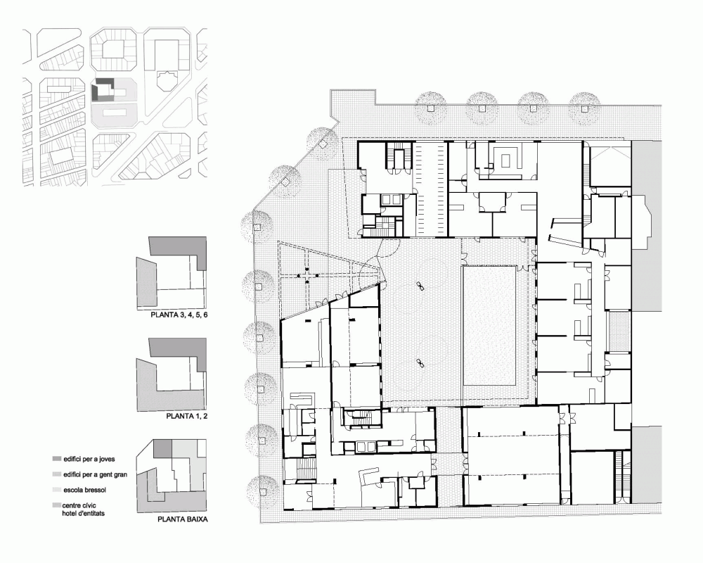 Architecture photography 154 viviendas y equipamientos for Plan de arquitectura