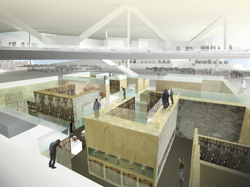 "OMA's Plans for ""Iconic"" Qatar National Library"