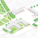 Gymnasium and Town Hall Esplanade / LAN Architecture diagram