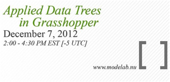 modeLab Applied Data Trees in Grasshopper