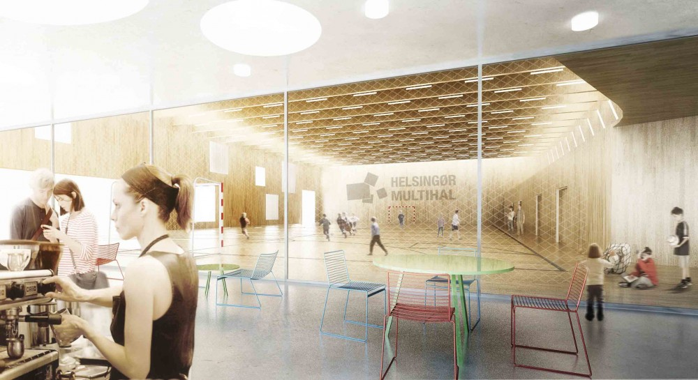 The New Urban School, Mixed Use Sports Complex Proposal / EFFEKT + Rubow