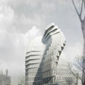 Wuhan Marine Science and Research Tower Proposal (2) Courtesy of ACID + AaL + Studio méta-