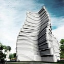 Wuhan Marine Science and Research Tower Proposal (1) Courtesy of ACID + AaL + Studio méta-