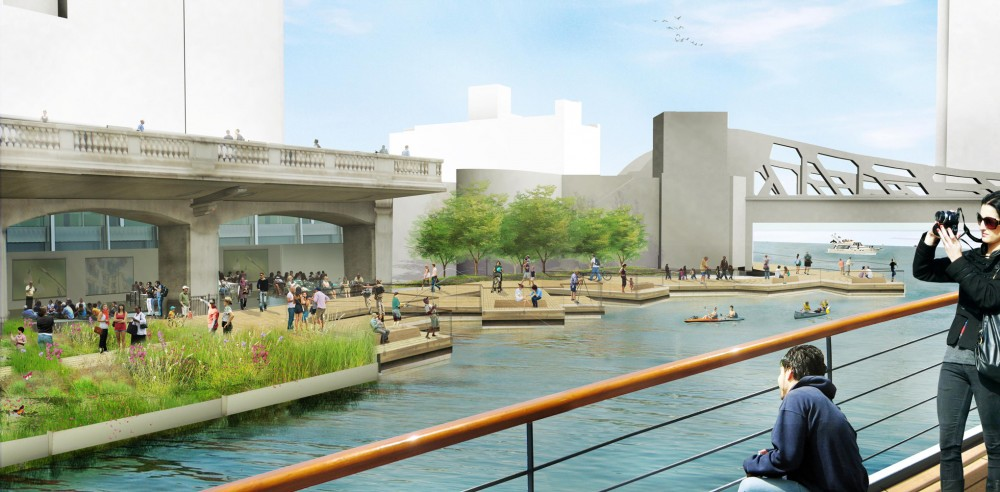 Chicago Riverwalk Proposal / Sasaki Associates +  Ross Barney Architects