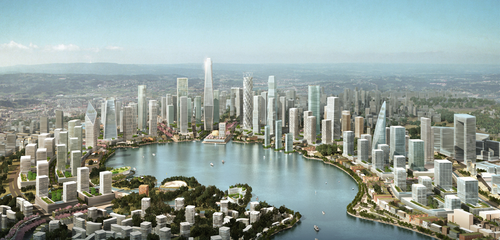 KPF Releases Masterplan for Chinese City Built From Scratch