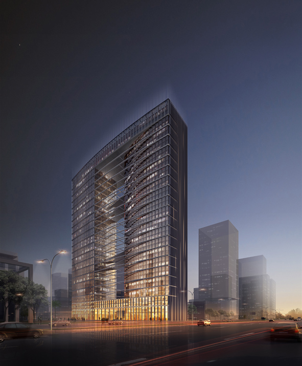 Dual Tower for the High-Tech and Research Campus First Prize Winning Proposal / KSP Jrgen Engel Architekten