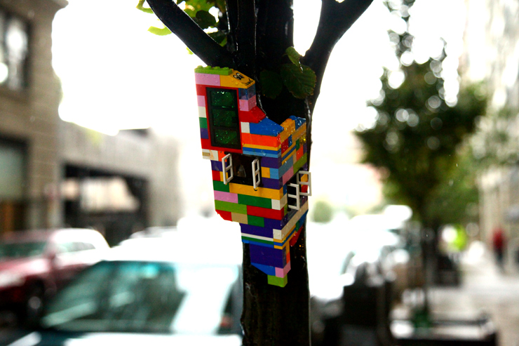 Lego Housing Units on the Street / Jaye Moon