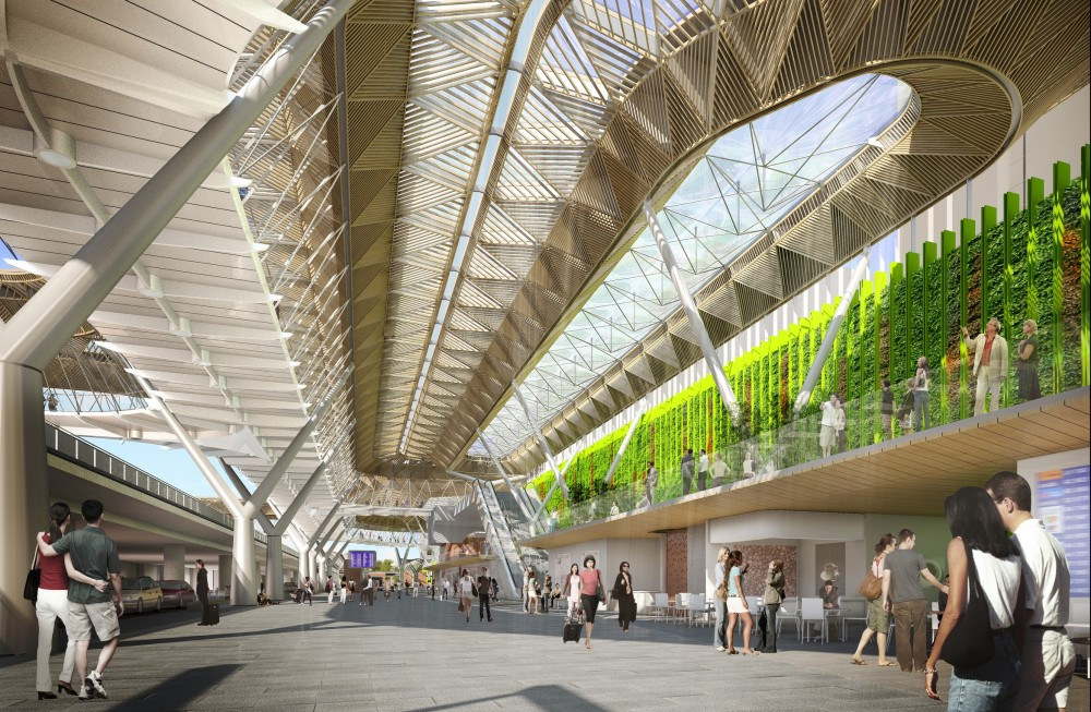 New Vision for Frankfurt Airports Terminal 1 Forecourt / Grimshaw Architects