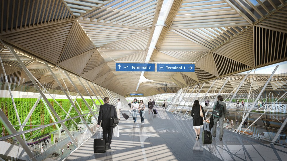 New Vision for Frankfurt Airport's Terminal 1 Forecourt / Grimshaw Architects