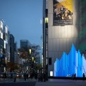 "Sony Building ""Crystal Aqua Trees"" Installation (1) © Daici Ano"