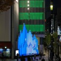 "Sony Building ""Crystal Aqua Trees"" Installation (2) © Daici Ano"