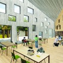 &#039;Mosaic&#039; Innovative, Bioclimatic, European School Complex Competition Entry (6) Courtesy of AREA (Architecture Research Athens)