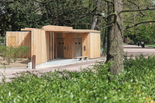 Public toilets in the t te d 39 or park jacky suchail architects archdaily Public bathroom design architecture