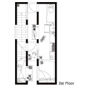 A Life With Large Opening / ON design partners Second Floor Plan
