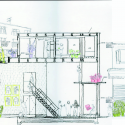Yokohama Apartment / ON design partners Sketch