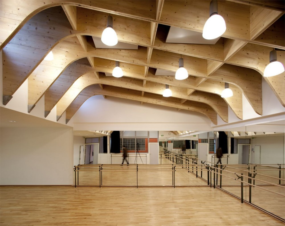 Architecture Photography Gymnasium R 233 Gis Racine Atelier