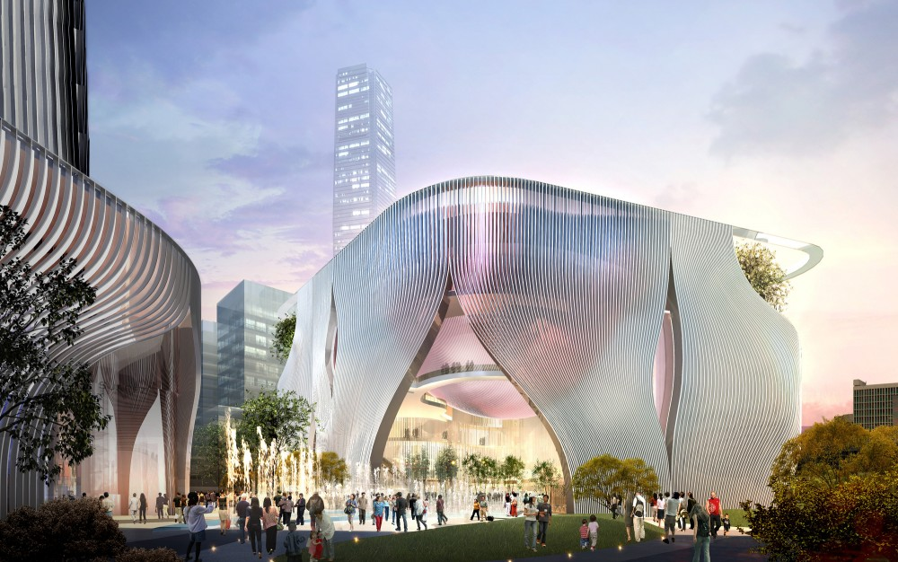 Xiqu Center Winning Design / Bing Thom Architects + Ronald Lu & Partners