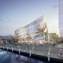 HASSELL, OMA, and Populous To Redevelop Sydney Harbour International Convention Center (ICC), view from the water. Image © SICEEP