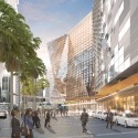 HASSELL, OMA, and Populous To Redevelop Sydney Harbour International Convention Center (ICC), view from Harbourside Place. Image © SICEEP