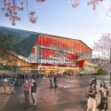 HASSELL, OMA, and Populous To Redevelop Sydney Harbour The Theatre, view from the east. Image © SICEEP