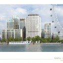 8 New Towers Proposed for London's South Bank View of the Shell Centre Complex. Image courtesy of The Canary Wharf and Qatari Diar Groups.