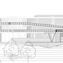 Institucion Educativa La Samaria / Campuzano Arquitectos South Elevation