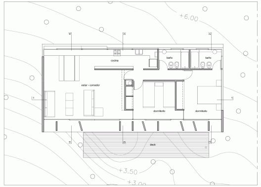 Concrete house bak architects arquitectura for Slab floor plans