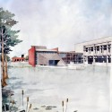 Donate to Architecture for Humanity, Get A Famous Architect's Sketch This sketch will be auctioned December 20th. Eskew+Dumez+Ripple 