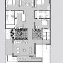 Twin Courtyard House / Charged Voids First Floor Plan