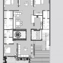 Twin Courtyard House / Charged Voids Ground Floor Plan