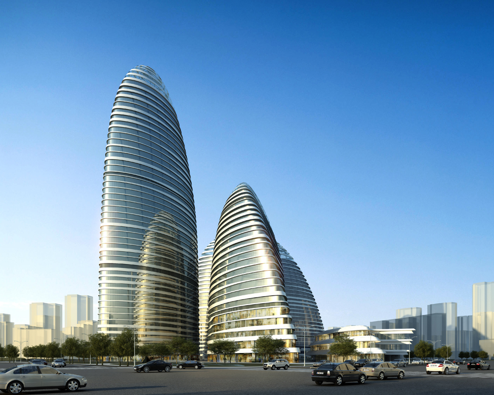 Zaha Hadid Seeing Double in China