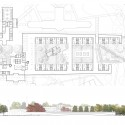 North Brother Island School for Autistic Children Competition Entry (6) plan and elevation