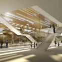 Jerusalem Museum of Nature &amp; Science Second Prize Winning Proposal (7) lobby /  Studio84