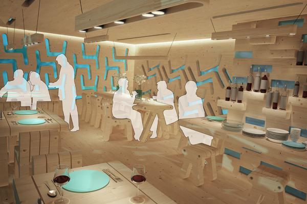 طراحی بهینه رستوران ، رستوران قابل حمل ، رستوران موقت