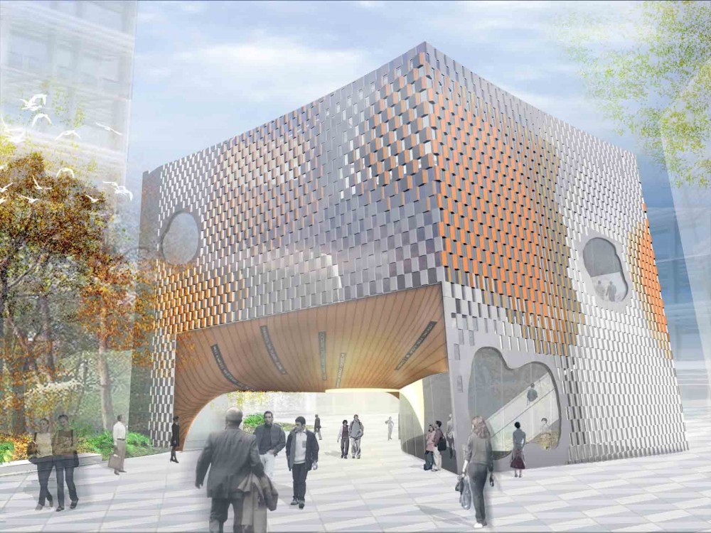 &#8216;Open Exchange&#8217; Green Square Library and Plaza Competition Entry / MODU