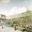 Innovative Bioclimatic European School Third Prize Winning Proposal (6) secondary school courtyard
