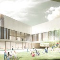 Innovative Bioclimatic European School Third Prize Winning Proposal (4) primary school courtyard