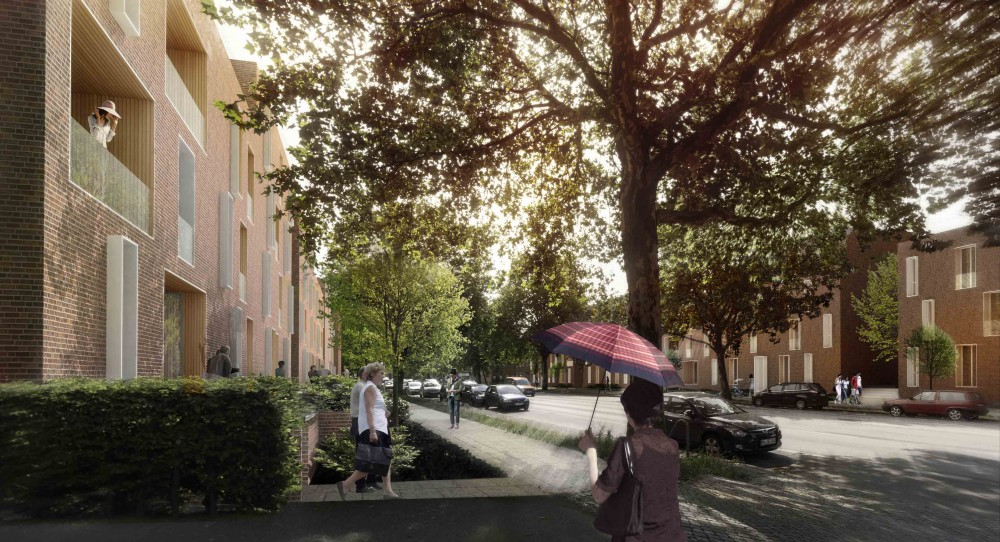 Lübeck Housing First Prize Winning Proposal / Dissing+Weitling + WE Architecture + Topos