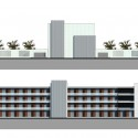 Kunshan Middle School Proposal (27) student dorms elevations