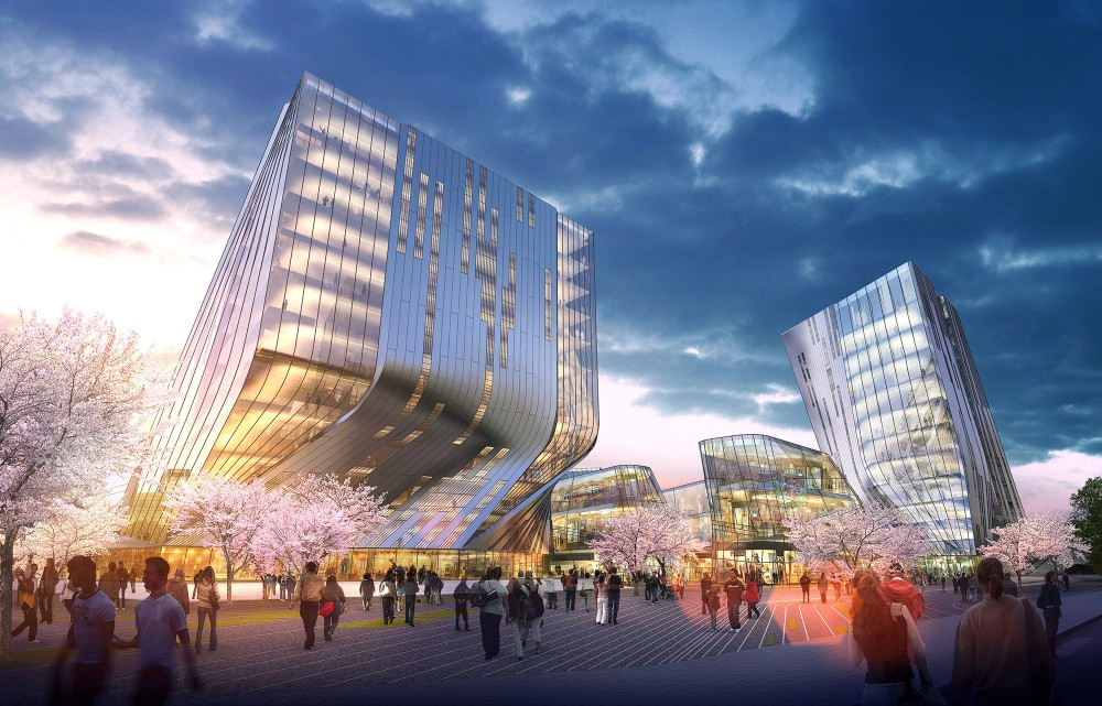 Shanghai Wuzhou International Plaza Winning Proposal / Synthesis Design + Architecture Inc. & Shenzhen General Institute of Architectural Design and Research