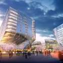Shanghai Wuzhou International Plaza Winning Proposal (2) Courtesy of Synthesis Design + Architecture Inc. & Shenzhen General Institute of Architectural Design and Research
