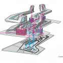 Shanghai Wuzhou International Plaza Winning Proposal (18) circulation diagram 02