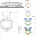 Sports Hall Competition Entry (10) plan, section, and diagram 02