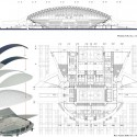 Sports Hall Competition Entry (9) plan, section, and diagram 01