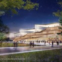 Proposals Unveiled for Kent State&#039;s new Architecture College (6) WEISS/MANFREDI Architecture/Landscape/Urbanism proposal; Courtesy Kent State University