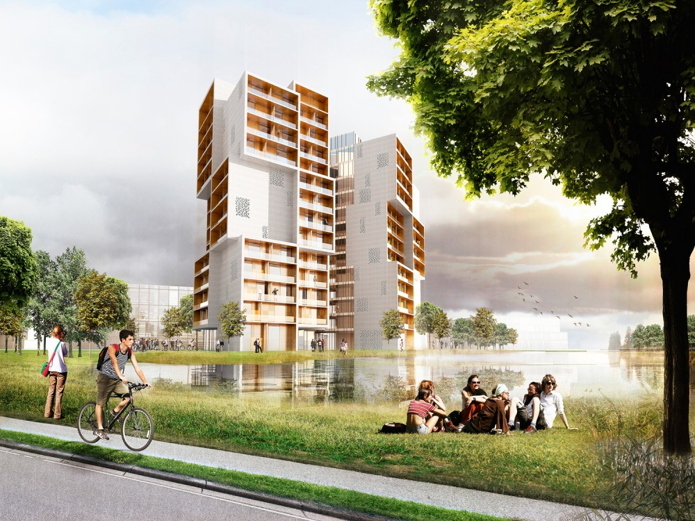 University of Southern Denmark Student Housing Winning Proposal / C.F. Møller Architects